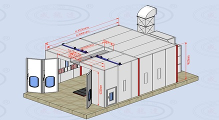 GTS Paint Booth Diagram